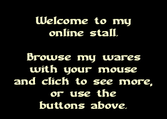 Welcome to my online stall!